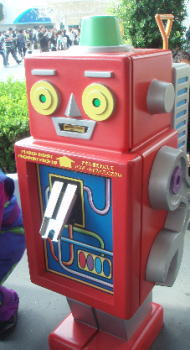 ディズニーランドでロボット発見!